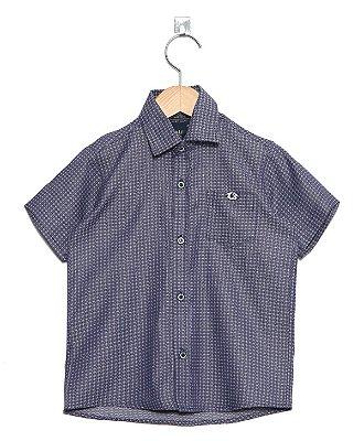 Camisa Manga Curta Estampada fio 50
