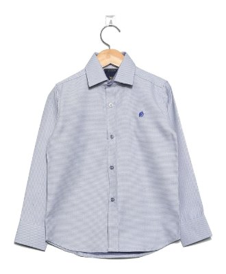 Camisa Manga Longa Azul