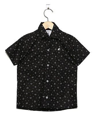 Camisa Manga Curta Estampada flor