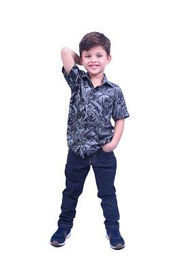 Camisa Manga Curta ViscoJeans Estampada