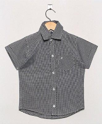 Camisa Manga Curta Xadrez Miudo