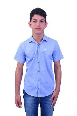 Camisa Manga Curta Lisa Fila Azul Claro