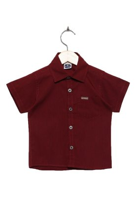 Camisa Manga Curta Lisa Fila Vinho
