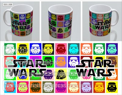 Caneca Star Wars - Stormtroopers coloridos
