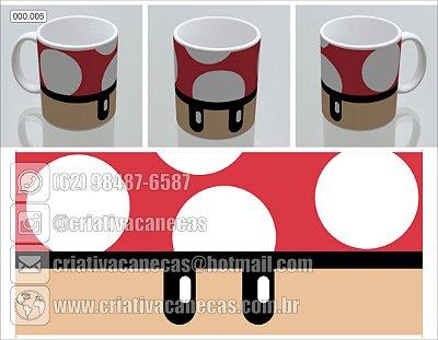 Caneca Mario - Cogumelo vermelho