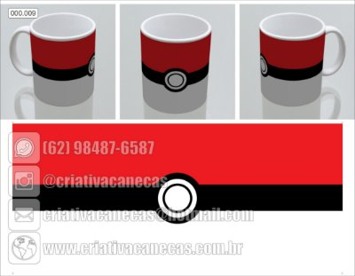 Caneca Pokemon - Pokebola