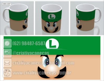 Caneca - Mario - Luigi