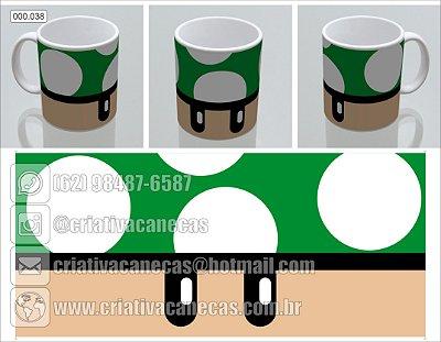 Caneca - Mario - Cogumelo verde