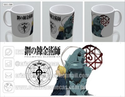 Caneca - Fullmetal Alchemist