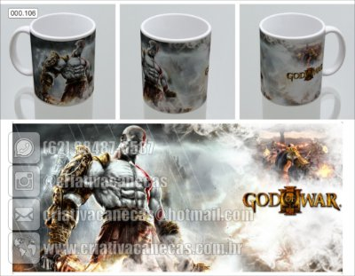 Caneca - God Of War