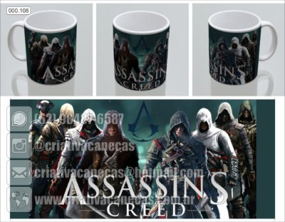 Caneca - Assassins Creed