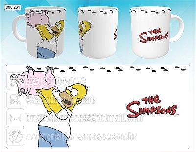 Caneca - Simpsons - Porco