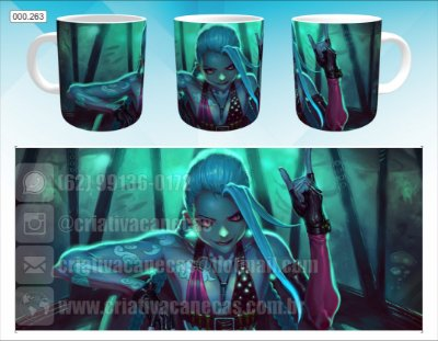 Caneca - League of Legends - Jinx
