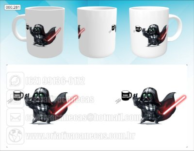 Caneca - Darth Vader Cartoon