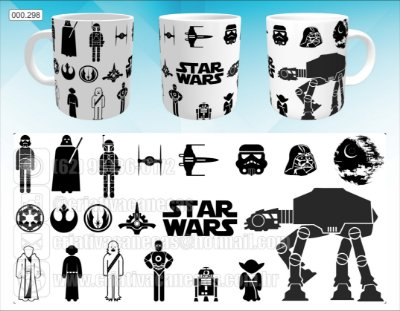 Caneca - Star Wars Personagens
