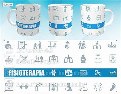 Caneca - Fisioterapia - Faixa Azul