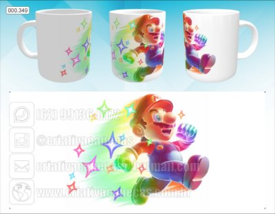Caneca - Super Mario Star Power