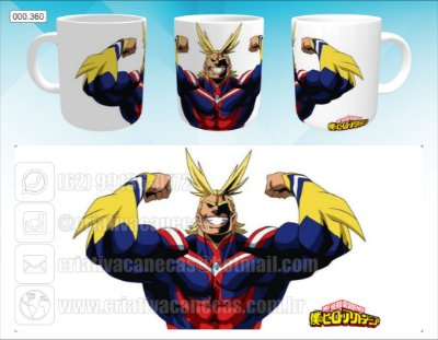 Caneca - Boku no Hero - All Might