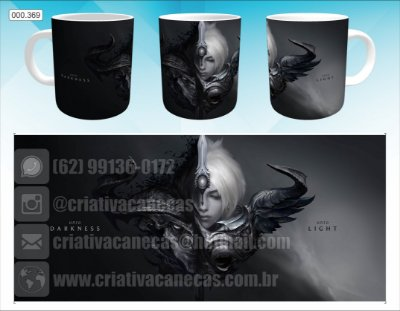 Caneca - League of Legends - Darkness and Light