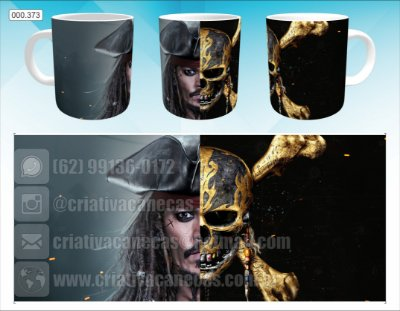 Caneca - Piratas do Caribe - Jack Sparrow