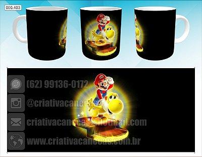 Caneca - Mario e Yoshi