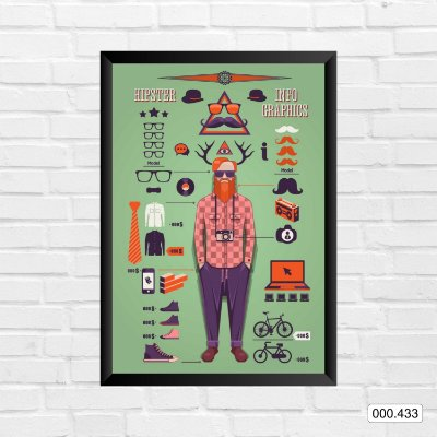 Quadro - Hipster, Info Graphics