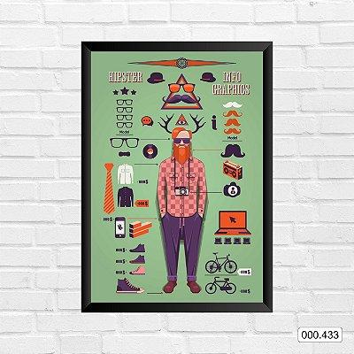 Quadro - Hipster, Info Graphics