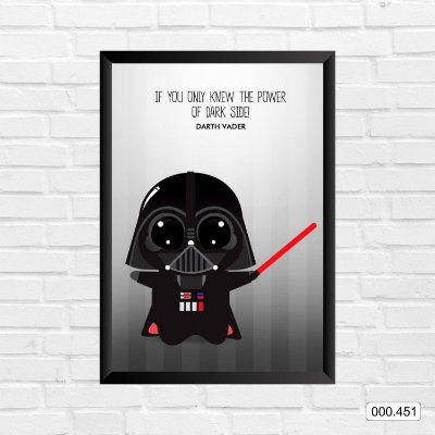 Quadro - Star Wars - Darth Vader Cartoon