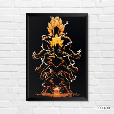 Quadro - Dragon Ball - Black and Orange