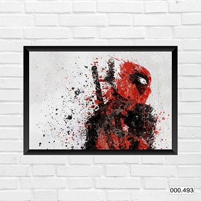 Quadro - Deadpool, Arte em pintura