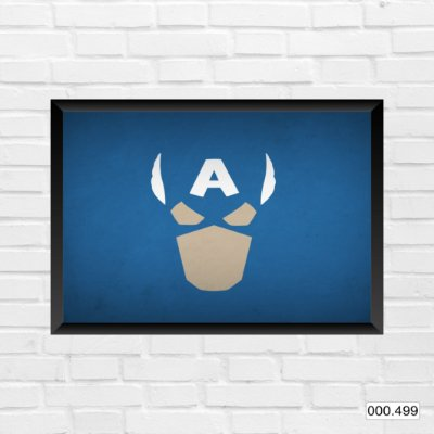Quadro - Capitão America, Arte azul