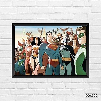 Quadro - DC - SuperHeróis