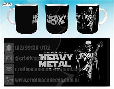 Caneca - Darth Vader - Heavy Metal