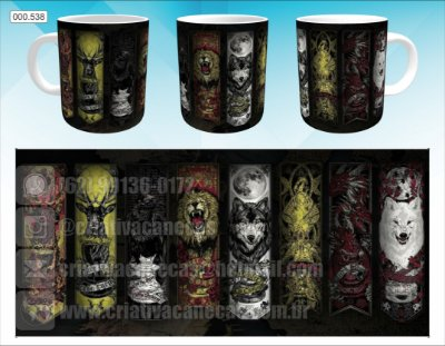 Caneca - Game of Thrones - Casas