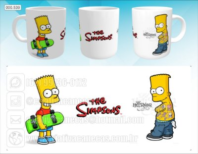 Caneca - Bart Simpson, Tattoo