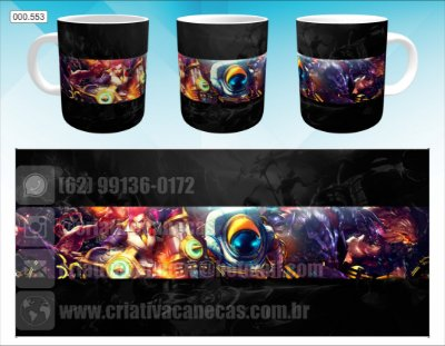 Caneca - League of Legends - Personagens
