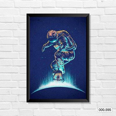 Quadro - Astronauta & Skate