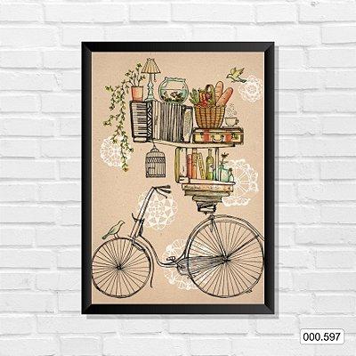 Quadro - Bike & Livros