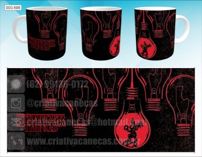 Caneca - Stranger Things - Black and Red