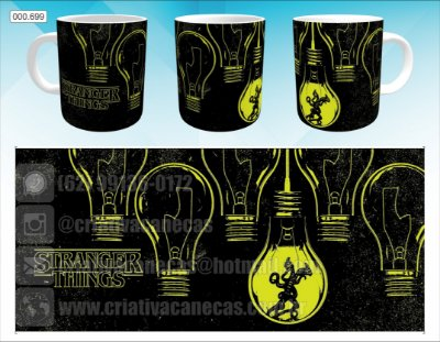 Caneca - Stranger Things - Black and Yellow
