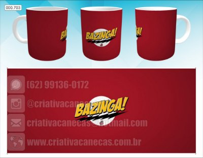 Caneca - The BigBang Theory - Bazinga