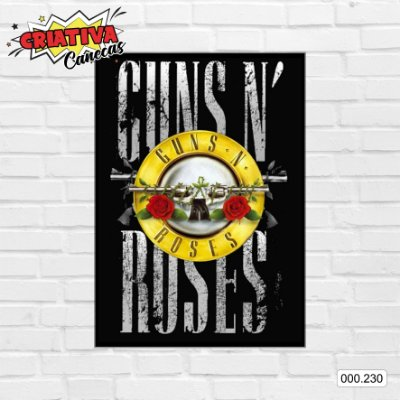 Placa decorativa - Guns N' Roses