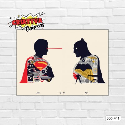 Placa decorativa - Batman & Superman