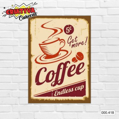 Placa decorativa - Coffe