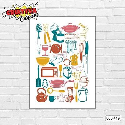 Placa decorativa - Cozinha