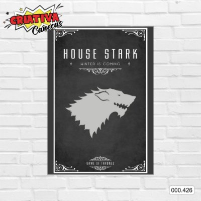 Placa decorativa - Game Of Thrones - House Stark
