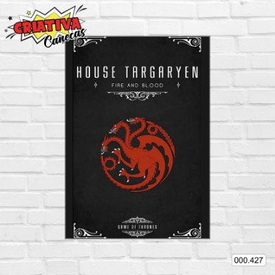 Placa decorativa - Game Of Thrones - House Targaryen