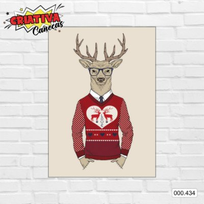 Placa decorativa - Hipster