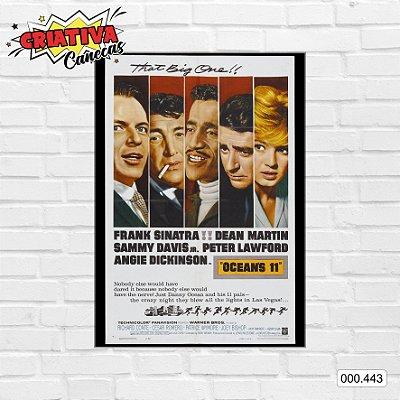 Placa decorativa - Ocean's 11 - Frank Sinatra, Dean Martin, Sammy Davis Jr.