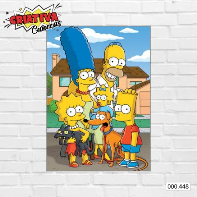 Placa decorativa - Simpsons